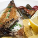 Gilt-head bream fillets with vegetables